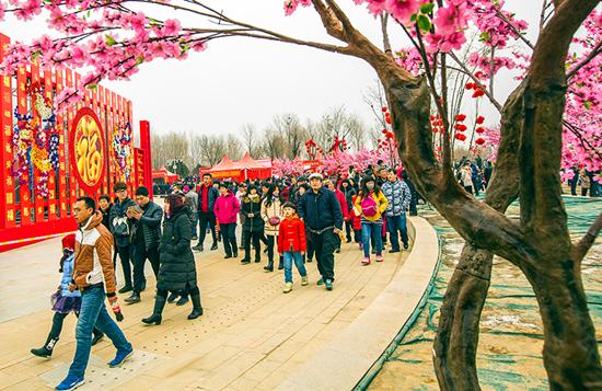 北京平谷春节文化庙会大年初一开幕 京津冀传统非遗项目齐登场
