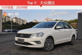 十月最热销的5款轿车:轩逸少卖555台惜败朗逸!