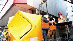 天津部分社区设置防护帐篷 温暖社区防控工作者