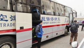 """天津""""点对点""""班车接130名外地员工返岗 """"回单位太顺了!"""""""