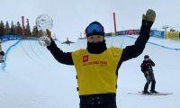 单板滑雪U型场地公开赛 蔡雪桐夺冠