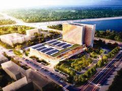 滨海新区妇女儿童医院生态城院区进入施工提速阶段
