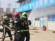 """天津市东丽区消防救援站""""消防演习""""进工地"""