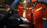 天津市消防救援总队增援黑龙江队伍成功 处置路边突发警情