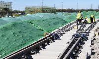 地铁6号线 二期铺轨施工
