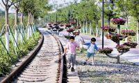 保留铁路印记 李七庄铁路公园开园