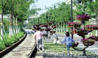 李七庄铁路公园开放 市民新添休闲娱乐好去处
