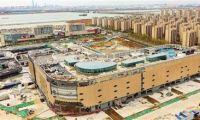 生态城爱琴海购物公园主体结构封顶