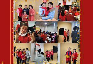 民生银行天津幸福广场支行成功举办新春全家福摄影活动
