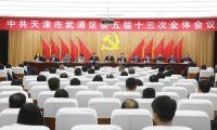 武清区委五届十三次全体会议在区行政中心召开
