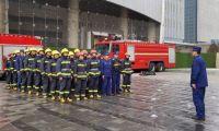 天津经开消防救援支队组织开展超高层建筑综合性测试演练