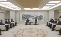 津南区领导接待中国华录集团有限公司董事长欧黎一行