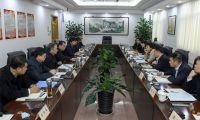 夏新谢元同中国银行天津分行党委书记、行长马超龙一行座谈