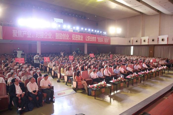 稿图11:第五届全国主流融媒体湖北特色高职行启动仪式。记者 刘建维 摄