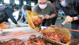 休渔期市场小龙虾补位