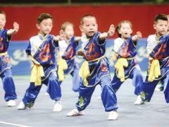 首届天津市幼儿武术比赛举行