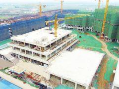 中国民航大学宁河校区二标段主体结构封顶
