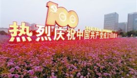"""天津市""""庆祝建党一百周年精品主题花坛作品""""评选揭晓"""